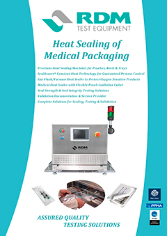 Medical Packaging Testing brochure cover